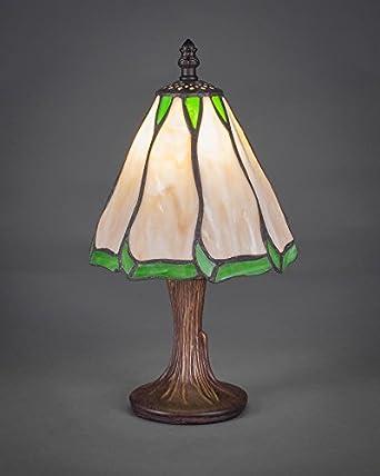 Toltec 55 Dg 9137 Mini Table Lamp In Dark Granite Finish