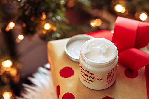 Spiced Cranberry Scented Handmade Milk and Honey Body Lotion 5.0 oz. Jar by Soapy Sweet Treats