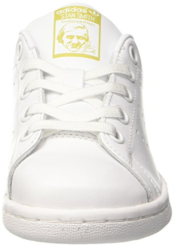 adidas Unisex-Kinder Stan Smith Sneaker Dekollete Elfenbein (Ftwr White/ftwr White/gold Metallic)