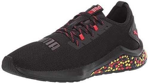 80a109e316a26 PUMA Men's Hybrid NX Sneaker Black-high Risk red-Blazing Yellow, 10 M US