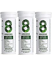 8Greens Immunity and Energy Effervescent Tablets - Packed with 8 Powerful Super Greens (3 Tubes / 30 Tablets)