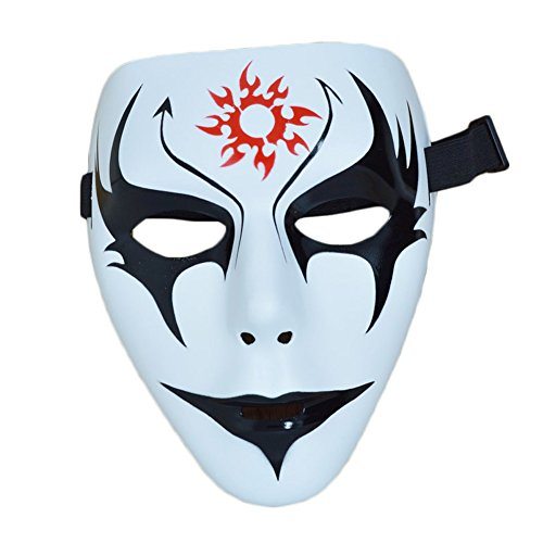 [Giveme5 Halloween Party Shuffle Dance Mask Dancers Hand-Painted Christmas Mask (Style 3)] (Half Doll Half Zombie Costume)