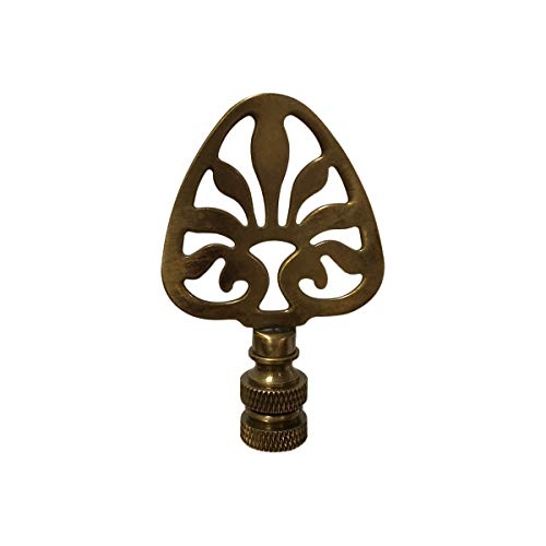 Royal Designs F-5063AB-1 Rising Sun Filigree Design Lamp Finial, Antique Brass