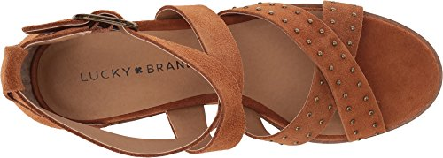 Lucky Brand Womens Kesey Leather Open Toe Casual Ankle Strap Sandals Caf¿ buy cheap really Manchester sale online 8cQrHro