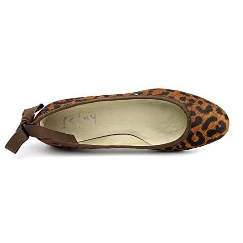 Franska Enda Fs / Ny Kvinnor Gale Brun Leopard Hår Balett Platt Skimmer Fsny Storlek 5,5 (eur 35,5) M