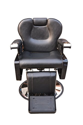 BarberPub All Purpose Hydraulic Recline Barber Chair Salon Beauty Spa Styling Equipment 6154-S8702 (Black) by BarberPub