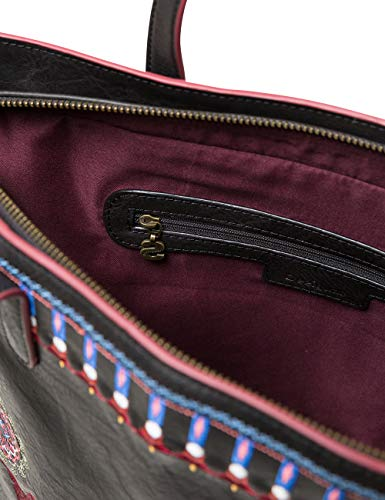 Zipper Chandy Desigual negro Portés Bag Noir Women Rio Épaule Sacs tPxTq1xw