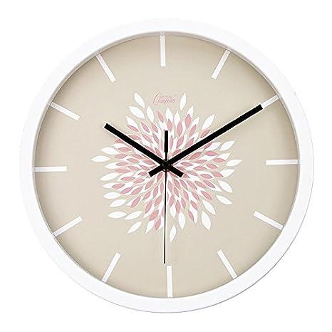 Ling @ los Restos y moderno creativo IKEA Salón Dormitorio Relojes de pastoralen pared Reloj Mute, K306 Quiet Years: Amazon.es: Hogar