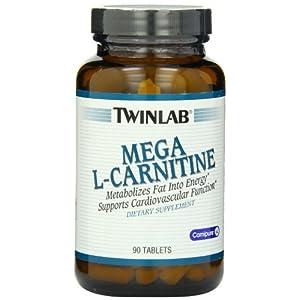 Twinlab Mega L Carnitine 500mg, 90 Tablets
