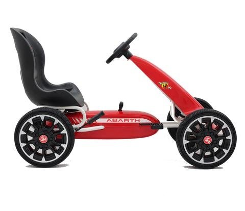 Abarth Licensed Pedal Go Kart With EVA Wheels & Clutch Gear Red