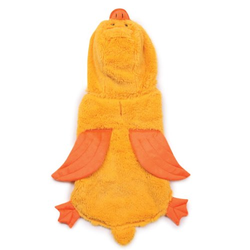 Zack and Zoey Polyester Quackers Duck Dog Costume, X-Small, 8-Inch, Yellow, My Pet Supplies