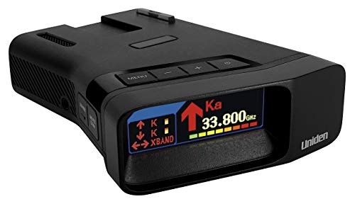 Uniden R7 Xtreme Long Range Laser/Radar Detector, Built-in GPS with Auto Learn Mode, Dual-Antennas Front & Rear w/Directional Arrows, Voice Alerts, Red Light Camera, Speed Camera Alert, OLED Display