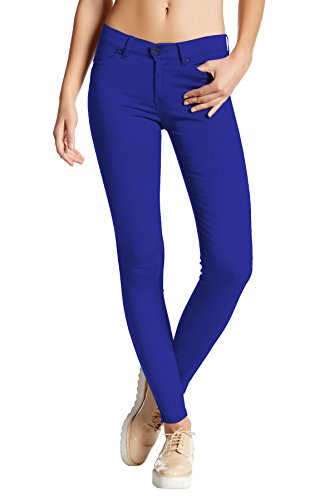 - Womens Super Stretch Comfy Skinny Pants P44876SK Royal Small