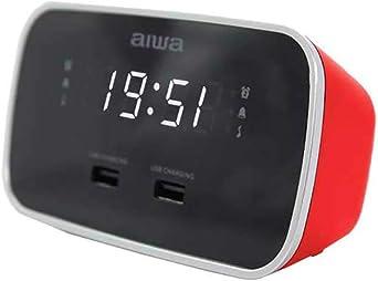 Aiwa Cru 19rd Radiowecker Digital Dual Usb Ladegerät Zum Aufladen Von Smartphones Und Tablets Elektronik
