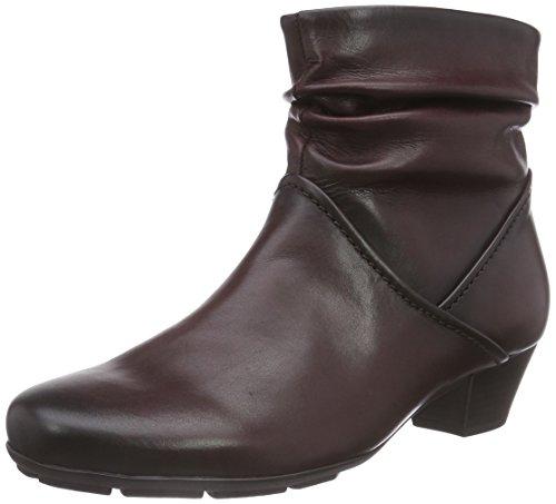Gabor - Botas de cuero para mujer negro negro rojo - Rot (wine (Effekt) 25)