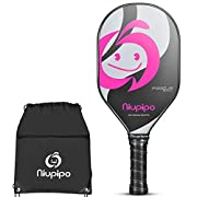 #LightningDeal Pickleball Paddle - Composite Pickleball Racket, Polyproylene Honeycomb Core, Ultra Cushion 4.5 In Grip 7.58oz Lightweight Pickleball paddles for Family Kids with Pickleball Racquet Cover,Pink