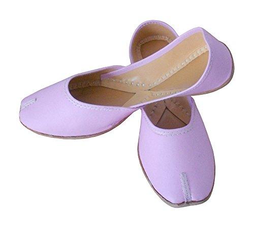 pour indien ethnique Chaussures femme Rose kalra de cuir traditionnel en imitation Creations AIqzSwf