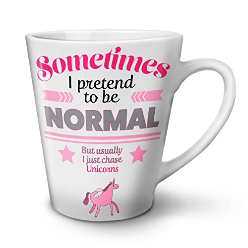 Unicorn Cool Joke Funny Myth Fun White Tea Coffee Ceramic Latte Mug 12 17 oz   Wellcoda