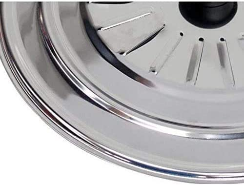 Frying Pan Lid Universal Lid for Pots and Pans Stainless Steel Universal Lid Cover Space Home 28 cm