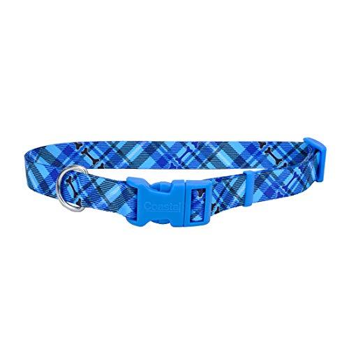 Pet Attire® Styles Adjustable Dog Collar, Plaid Bones Pattern, 3/4
