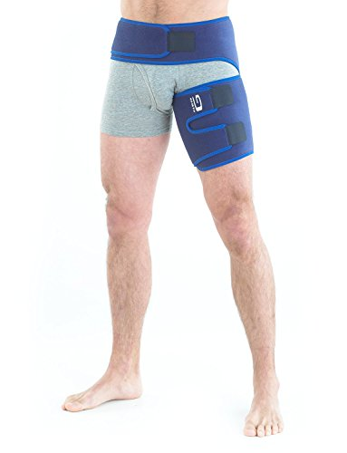 NEO G Groin Support - Medical Grade Quality HELPS groin strains, sprains, pain, pulls, tears, aches, stiffness, injury, recovery & rehabilitation-Everyday or sporting activities-ONE SIZE Unisex Brace