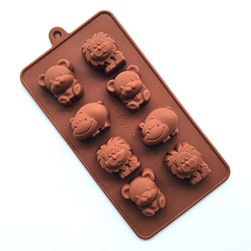 FantasyDay Cute Animal Shaped Silicone Baking Molds Bakeware for Halloween Theme Chocolate, Muffin Cups, Ice Cube, Soap, Wafer, Cake, Bread, Tart, Pie, Flan, Pudding, Candy, Jello Shot and More (Cute And Easy Halloween Cakes)