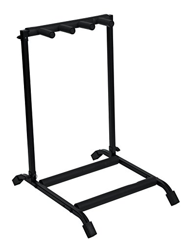 (Rok-It Multi Guitar Stand Rack with Folding Design; Holds up to 3 Electric or Acoustic Guitars (RI-GTR-RACK3))