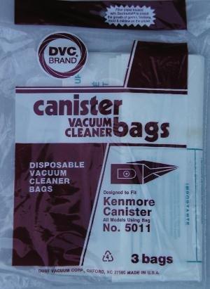 Kenmore 5011 Vacuum Bags- 3 Pack