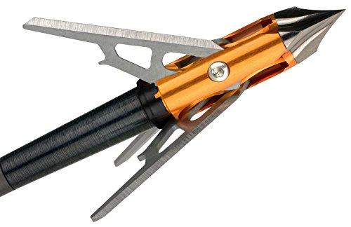 FeraDyne Rage Chisel Tip x Crossbow Broadhead 3 Blade 100gr. 3 PK. Orange