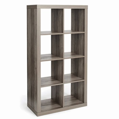 Modern Better Homes and Gardens 8-Cube Organizer Rustic Gray with a Bonus Dust Cloth by Better Homes and Gardens