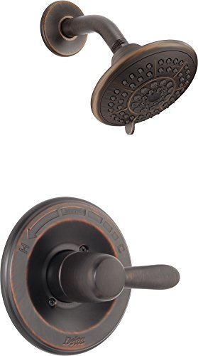 Delta Faucet Lahara 14 Series Single-Function Shower Trim Kit with 5-Spray Touch-Clean Shower Head, Venetian Bronze T14238-RB (Valve Not Included)