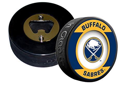 EBINGERS PLACE Buffalo Sabres NHL Retro Series Hockey Puck Bottle Opener (Retro Opener Bottle)