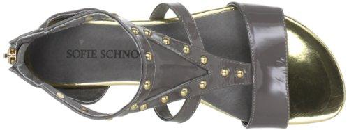 Sofie Schnoor Sandal w. gold deco S132654 - Sandalias de cuero para mujer Gris (Grau (Grey))