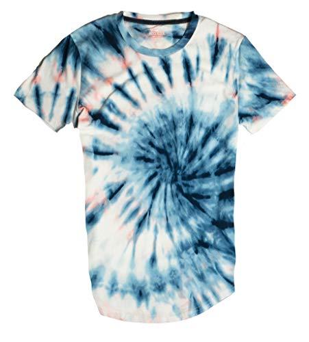 Hollister Men's Tee Graphic T-Shirt V Neck - Crew Neck (XS, Multi Tie Dye 0619)