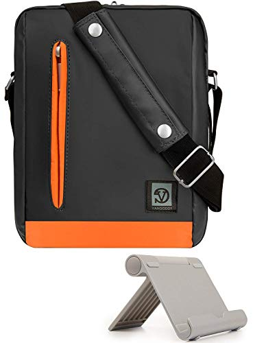Charcoal theft Voyag Sling Size Crossbody Vertical Paperwhite Tablet Anti Charcoal Trim Amazon Stand Bag color Oasis Messenger Orange Kindle For E readers Moontang d7wXxqd