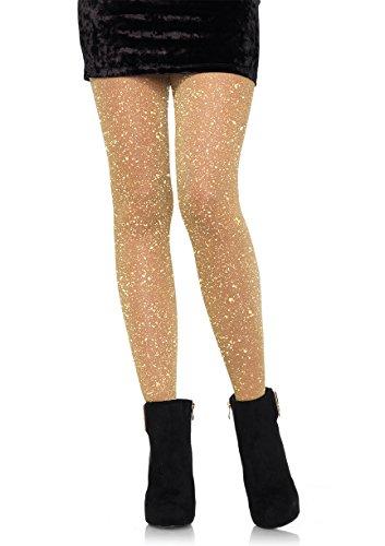 Green Fishnet Tights (Leg Avenue Women's Hosiery Adult Costume, -Gold, One)
