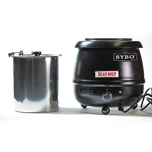 SYBO SB6000 SB-6000 Soup Kettle, 10.5 Quarts, Black and Sliver by SYBO (Image #2)