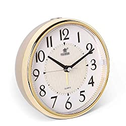 QIAOBSS Table Clock Ultra-Quiet Small Alarm Clock, Classic Retro Style Digital Alarm Clocks, Desk Cupboard Bedside Travel Alarm Clock