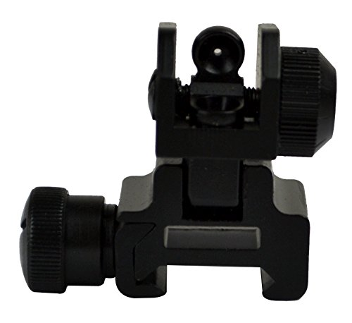 Sniper Flip-up Rear Sight with Dual Aiming Aperture