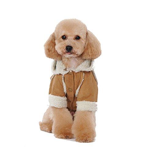 Kailian Dog winter Jacket Puppy Hooded Coat, Dog Apparel ...