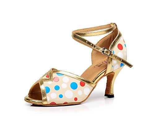 Femme en Honeystore Dance7114b Ferm¨¦ Scintillant Bout de Lani¨¨re Chaussures Danse T RZqgd