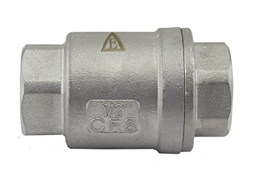 Duda Energy VCV-WOG1000-F050 Vertical Check Valve, 304 Stainless Steel, 1/2