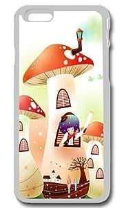 Childhood Fairytales Mushroom House Personalized Custom iPhone 6 Case Cover - PC Transparent hjbrhga1544