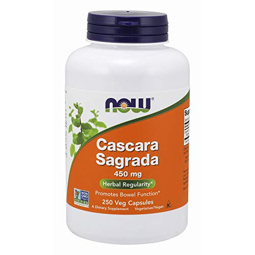 NOW Cascara Sagrada 450 mg 250 Capsules