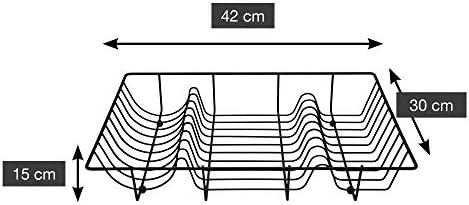 Une 'domo Pv-chr-3195Point-Virgule fils à vaisselle 49x 32x 8.5cm, EN ACIER, Noir