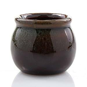 """NW mayorista–pequeño dos tono de cerámica maceta, 2,5"""", azul"""