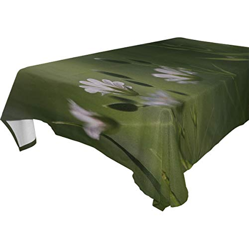 MAXM Grass Flowers Blur Rectangular Tablecloth for Dinner,Kitchen,Party,Picnic,Wedding,Restaurant Or Banquet Use,Fall,Holidays,Thanksgiving,Halloween,Christmas,tablecovers Spread,54x72 Inch -