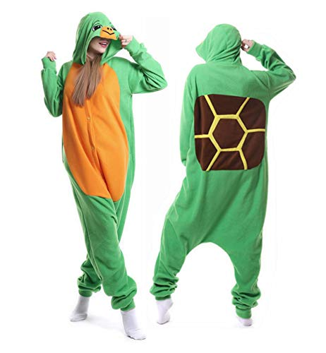 Turtle Costume Adult Onesie Animal Pajamas Halloween One Piece Cosplay Hoodie for Women