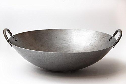 Steel wok round bottom
