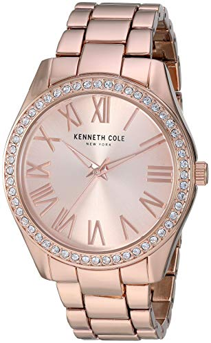 Kenneth Cole New York Women's Classic Stainless Steel Analog-Quartz Watch with Alloy Strap, Rose Gold, 17.6 (Model: KC50664002) (Kenneth Cole Watches Rose Gold)